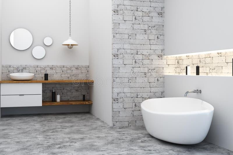Уберите комната ванны иллюстрация вектора