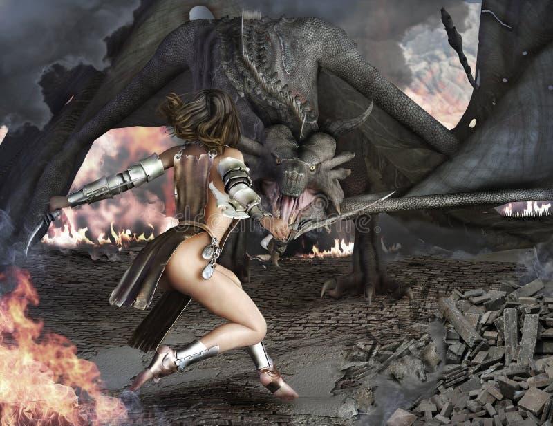 Убиватель дракона бесплатная иллюстрация