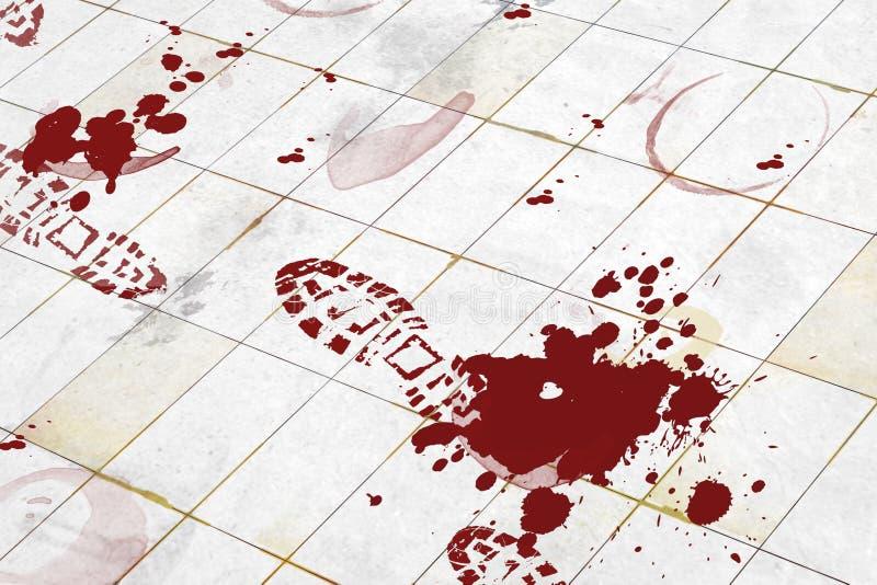 убийство иллюстрация вектора