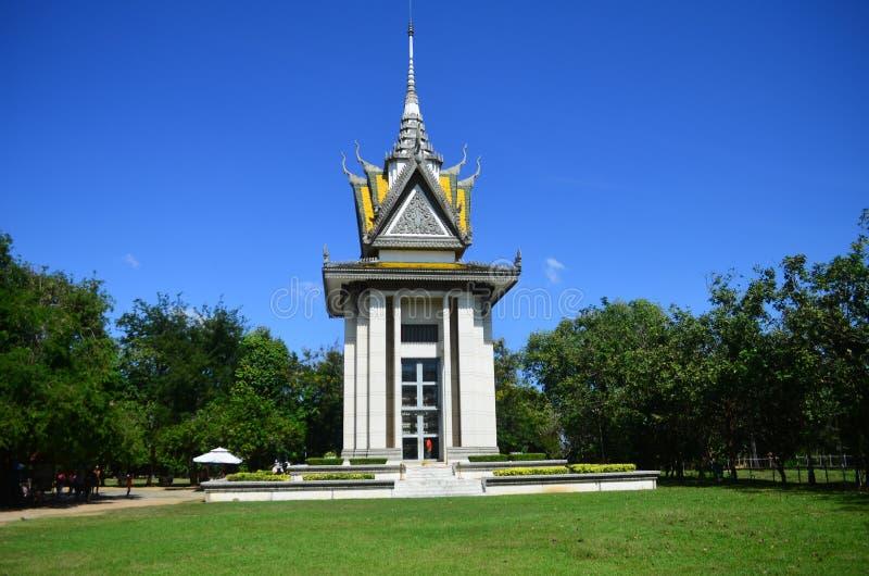 Убийство Fields массовое захоронение, Камбоджа стоковое изображение