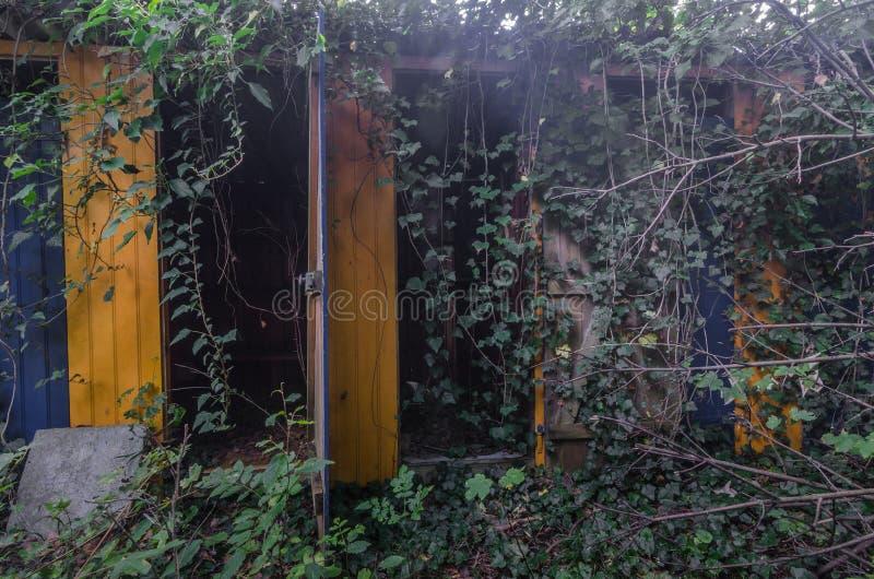 уборные в лесе стоковые изображения rf
