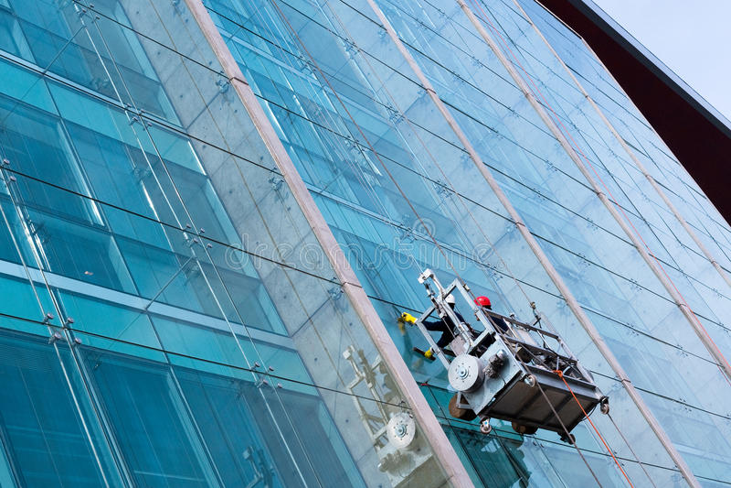 Уборщики окна стоковая фотография