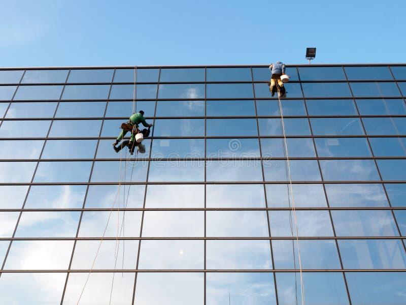 Уборщики Windows стоковая фотография