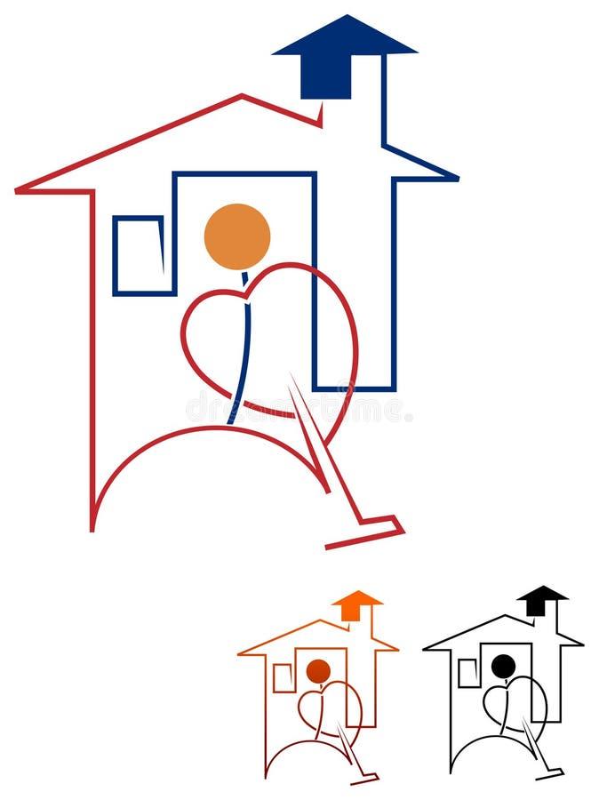 Уборщик дома бесплатная иллюстрация
