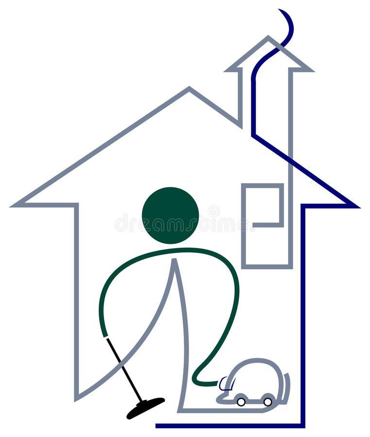 Уборщик дома иллюстрация вектора