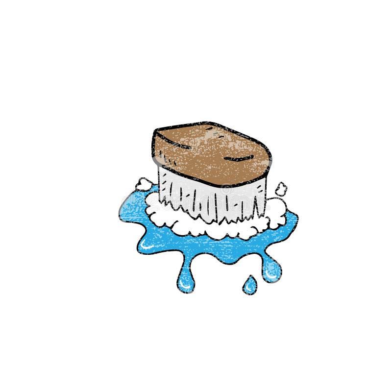 Уборщик пола щетки деталя дома иллюстрация штока