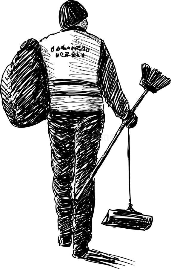 Уборщик бесплатная иллюстрация