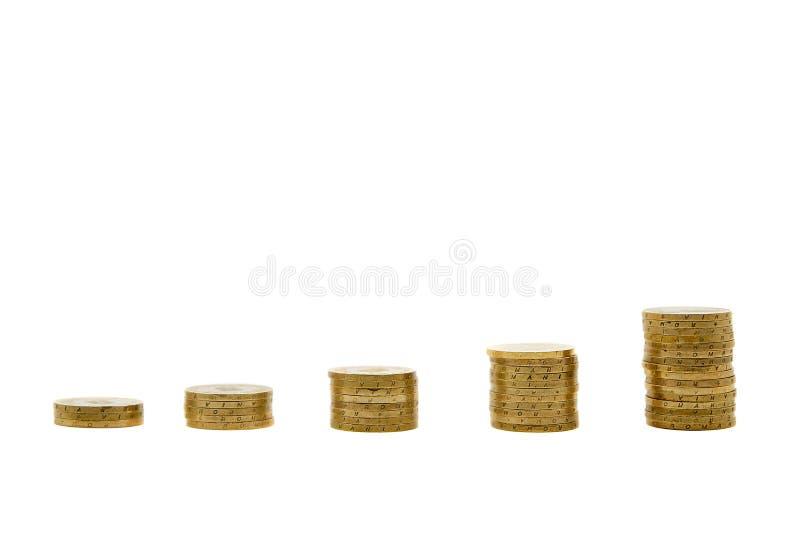 Увеличивая концепция экономики с монетками стоковая фотография