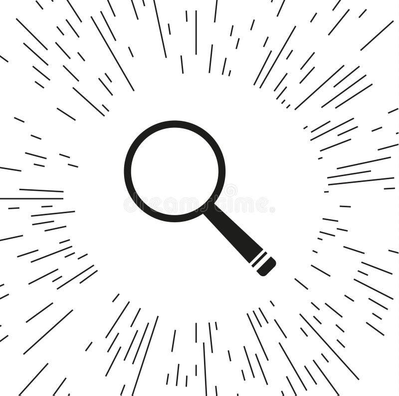 Увеличитель значка вектора иллюстрация штока