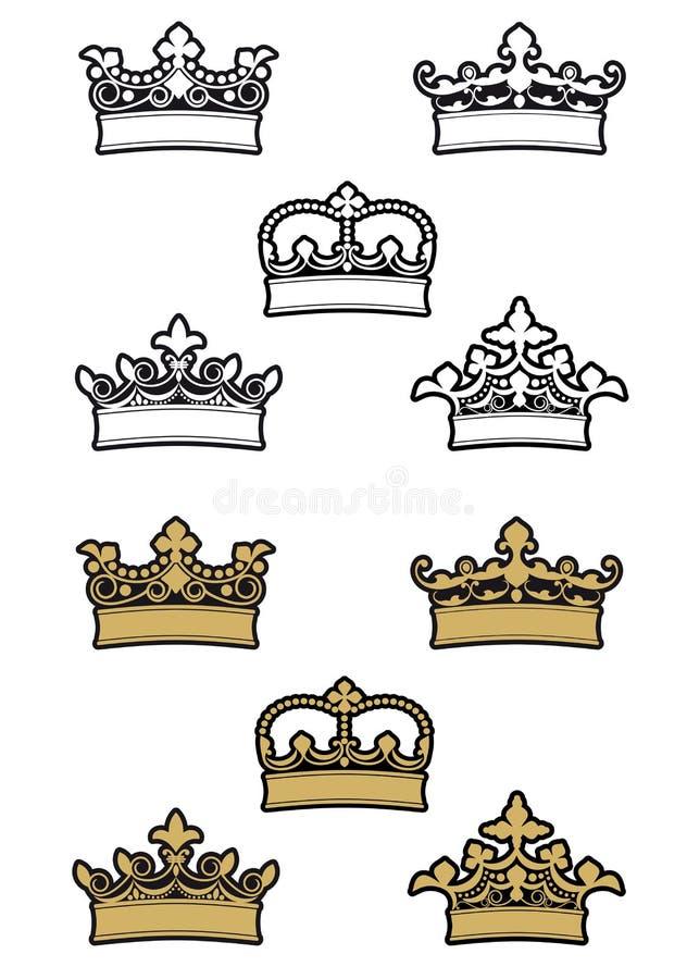 увенчивает heraldic бесплатная иллюстрация