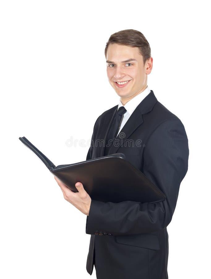 Download Уверенно бизнесмен стоковое изображение. изображение насчитывающей примечание - 37925097
