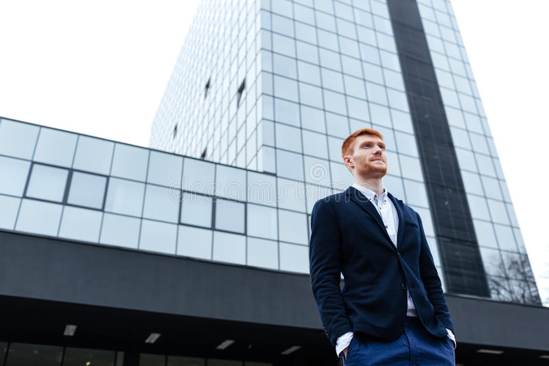 Уверенно бизнесмен redhead стоковые изображения