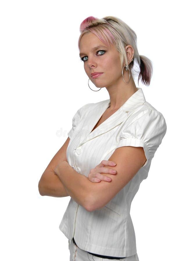уверенно женщина стоковое фото