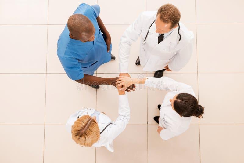 Уверенно команда врачей стоковое изображение rf