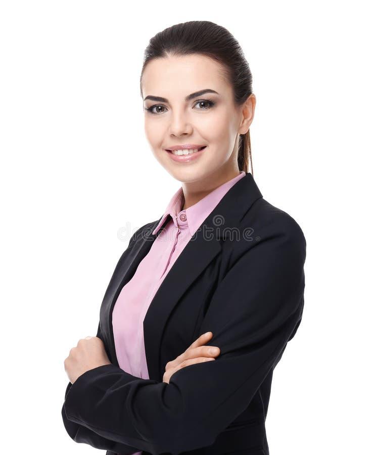 Уверенно молодой менеджер на предпосылке стоковая фотография