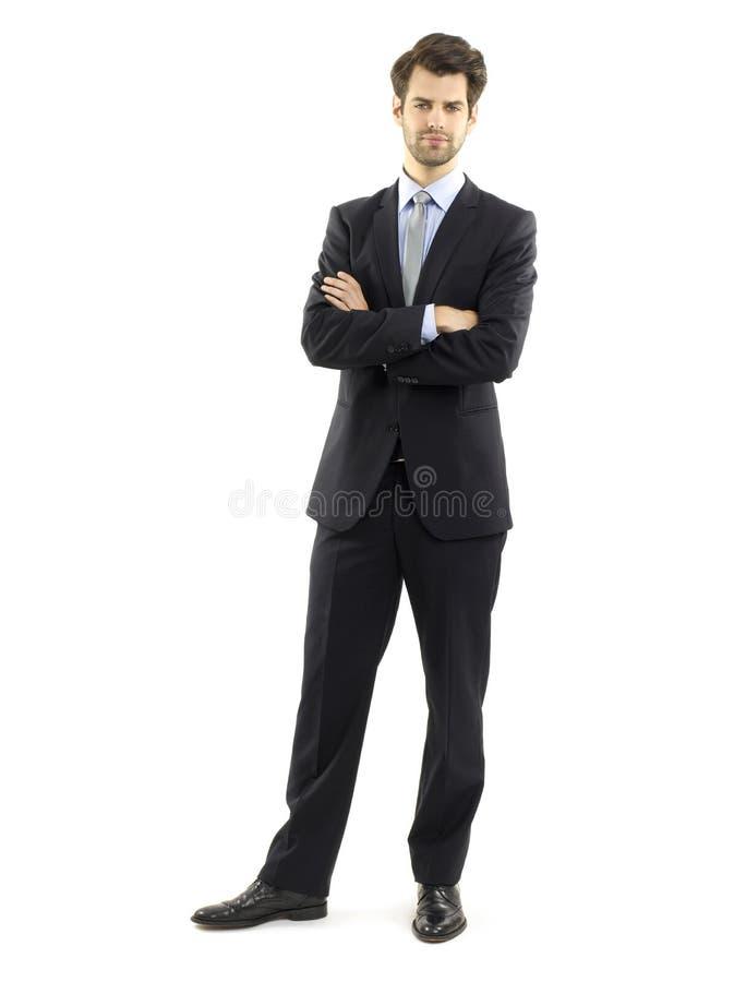 Уверенно молодой портрет бизнесмена стоковое изображение rf