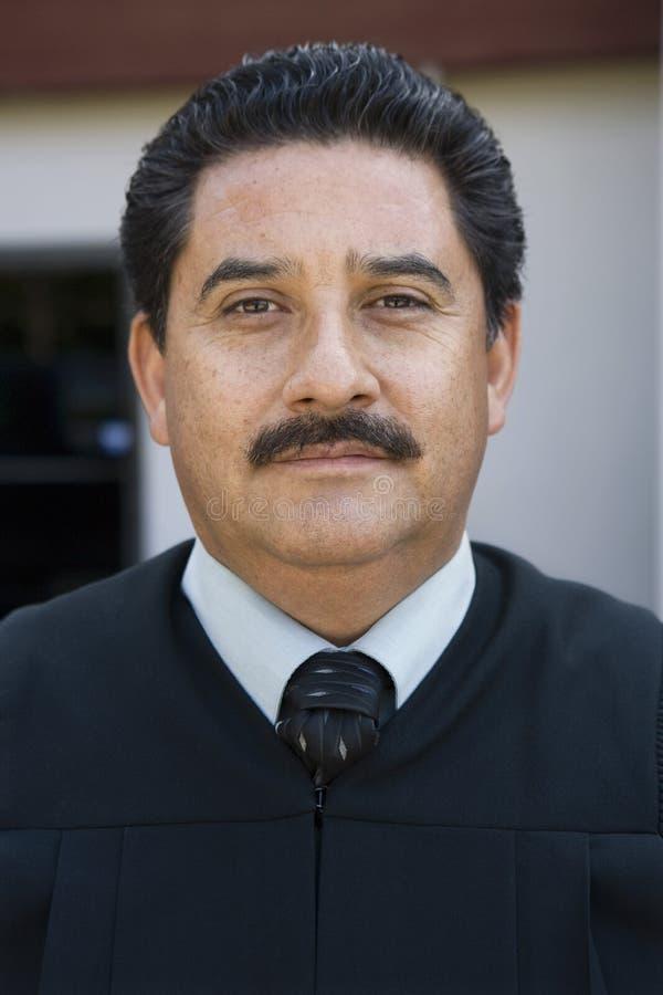 Уверенно мужской судья стоковое фото rf
