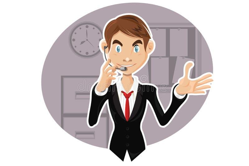 уверенно обслуживание представителя клиента иллюстрация штока