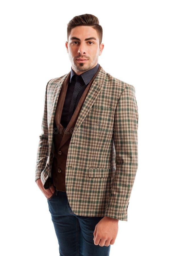 Уверенно продажи укомплектовывают личным составом одежды носить вскользь но элегантные стоковые фотографии rf