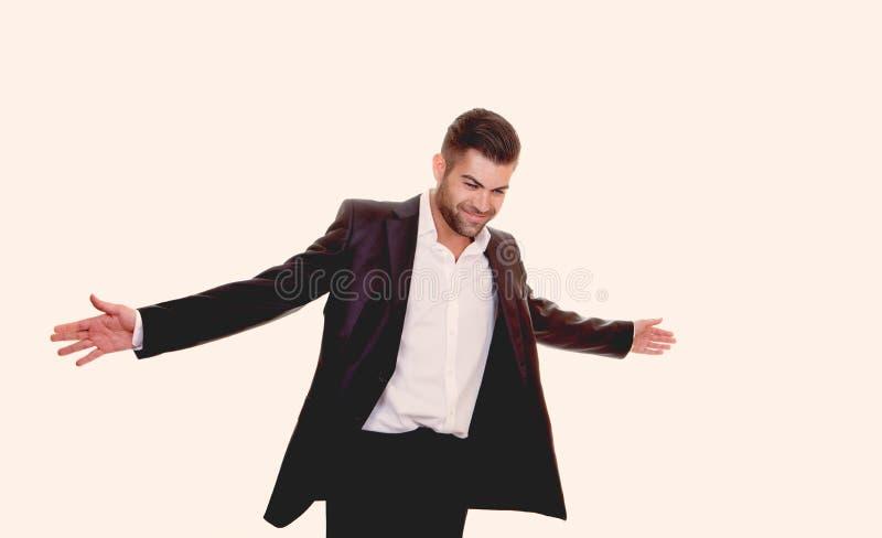 Уверенно дружелюбный бизнесмен стоковое фото