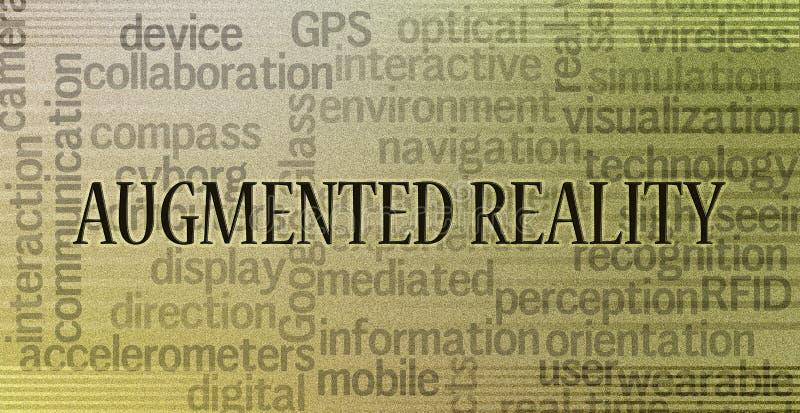 Увеличенная концепция реальности стоковые фотографии rf