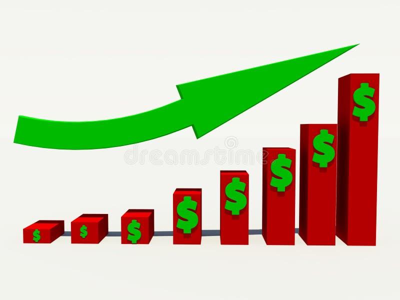 Увеличьте доход иллюстрация вектора