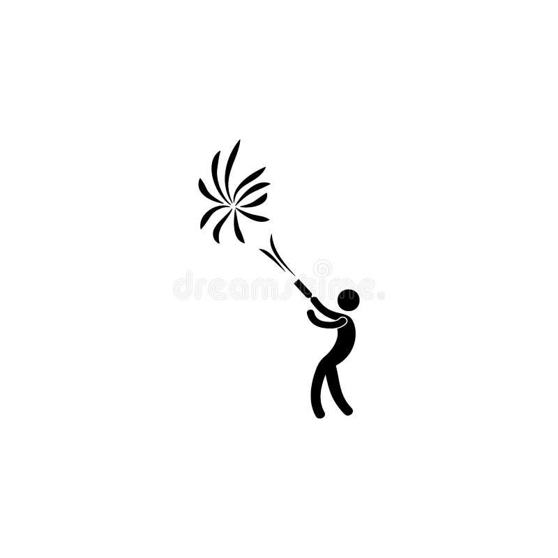 увольнять значок фейерверка Элемент значка партии для передвижных apps концепции и сети Детализированный для того чтобы увольнять иллюстрация штока