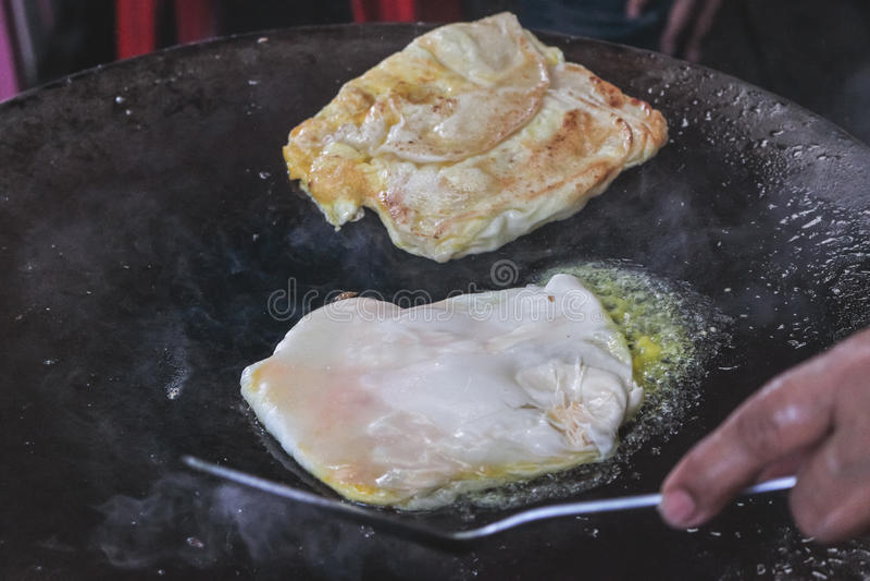 Увольнянное Roti тайских мусульман стоковое фото rf