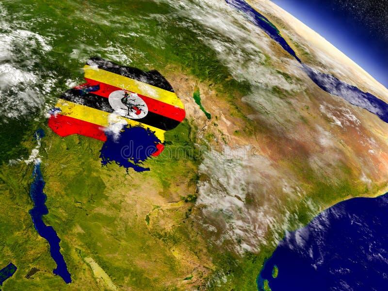 Download Уганда с врезанным флагом на земле Иллюстрация штока - иллюстрации насчитывающей космос, environment: 81806765