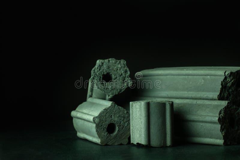 Углерод активирован Бамбуковый уголь стоковые изображения rf