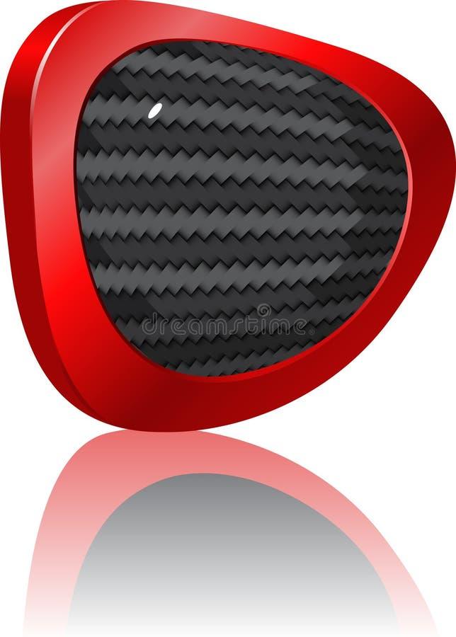 углерод кнопки иллюстрация вектора