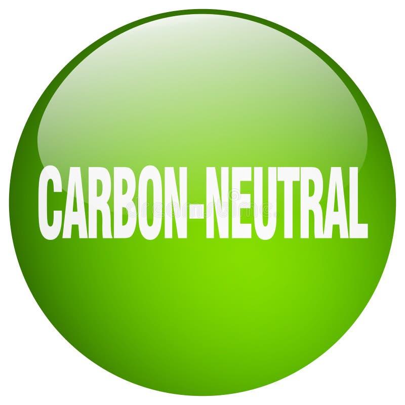 углерод-нейтральная кнопка иллюстрация вектора