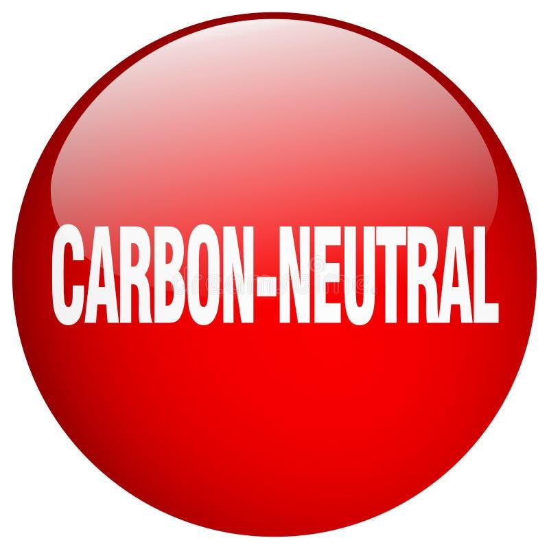 углерод-нейтральная кнопка иллюстрация штока