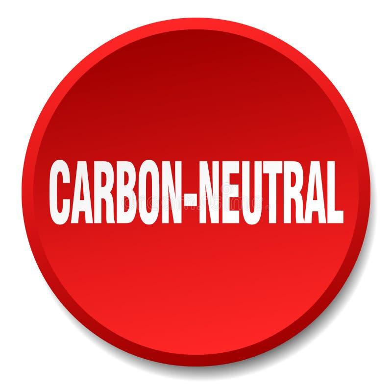 углерод-нейтральная кнопка бесплатная иллюстрация