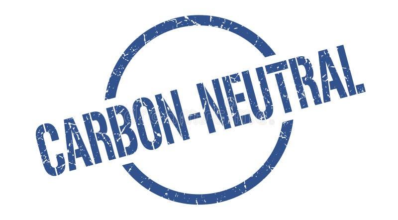 Углерод-нейтральный штемпель иллюстрация вектора
