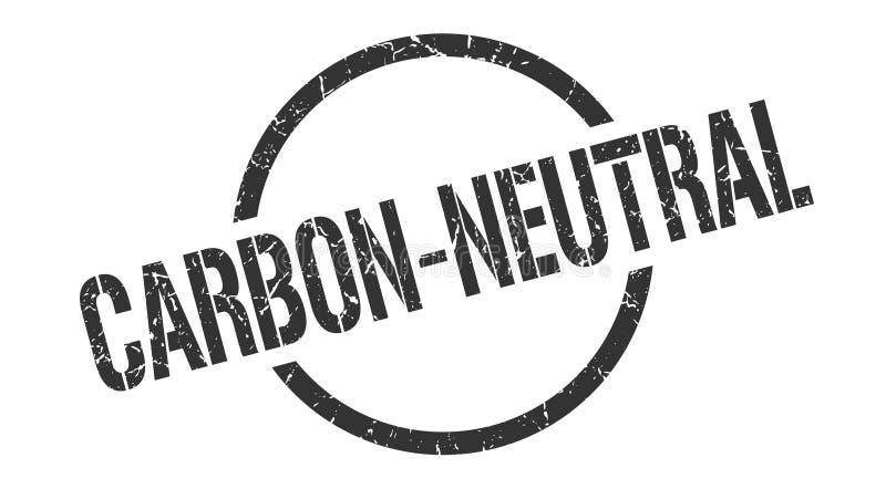 Углерод-нейтральный штемпель бесплатная иллюстрация