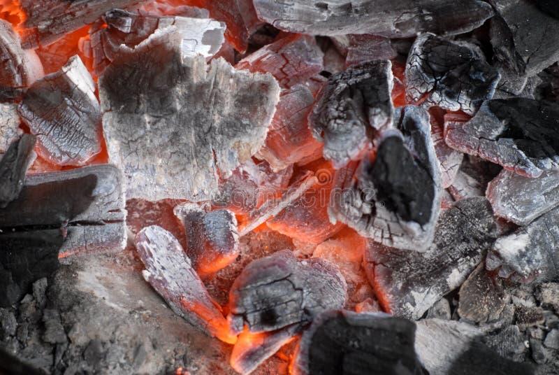 угли накаляя горяч Стоковое Фото