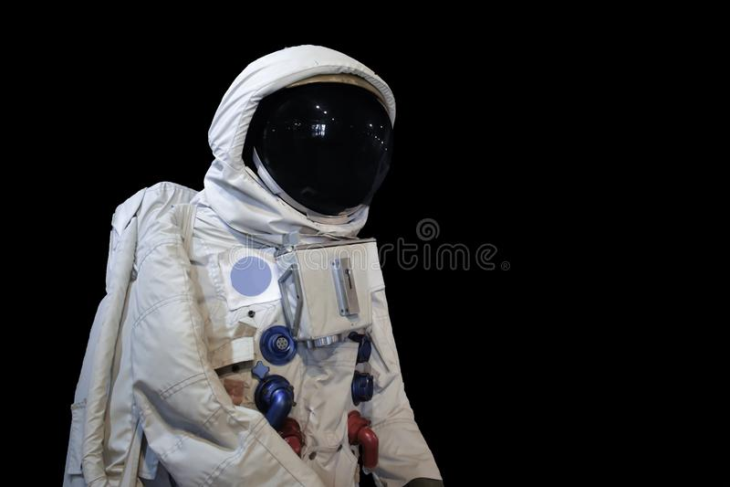 Угловая съемка Astronaunt низкая и изолировать предпосылку стоковые фотографии rf