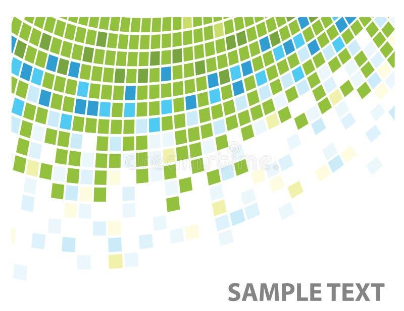 угловойая зеленая текстура квадратов иллюстрация штока