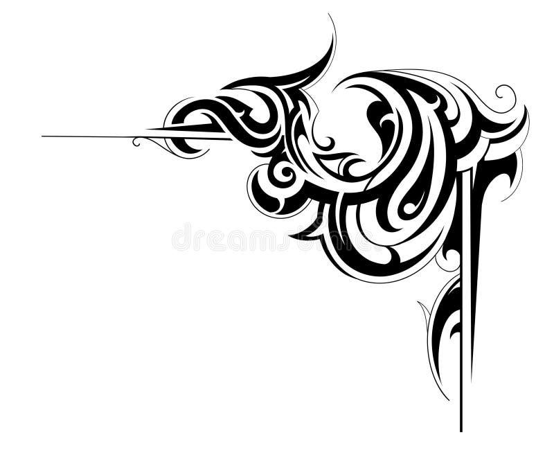 угловойая рамка иллюстрация штока
