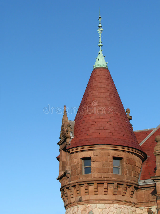 угловойое викторианец башни стоковые фотографии rf