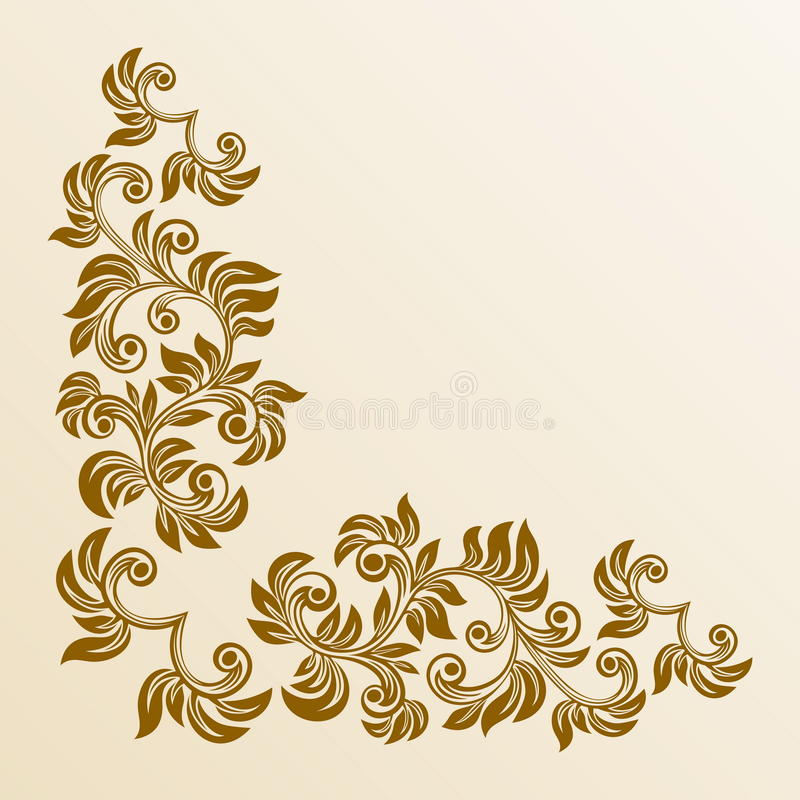угловойое флористическое бесплатная иллюстрация