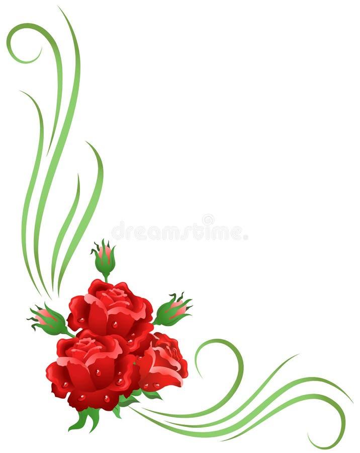 Угловойой флористический орнамент иллюстрация вектора