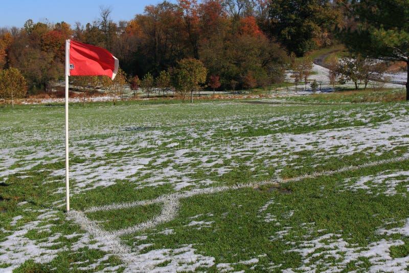 угловойой футбол флага стоковое изображение