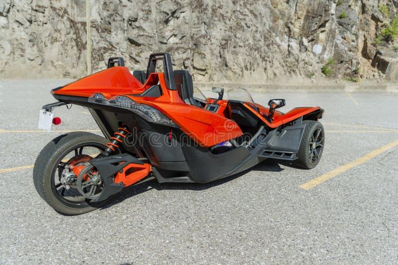Угловой, который 3-катят мотоцикл стоковые изображения rf