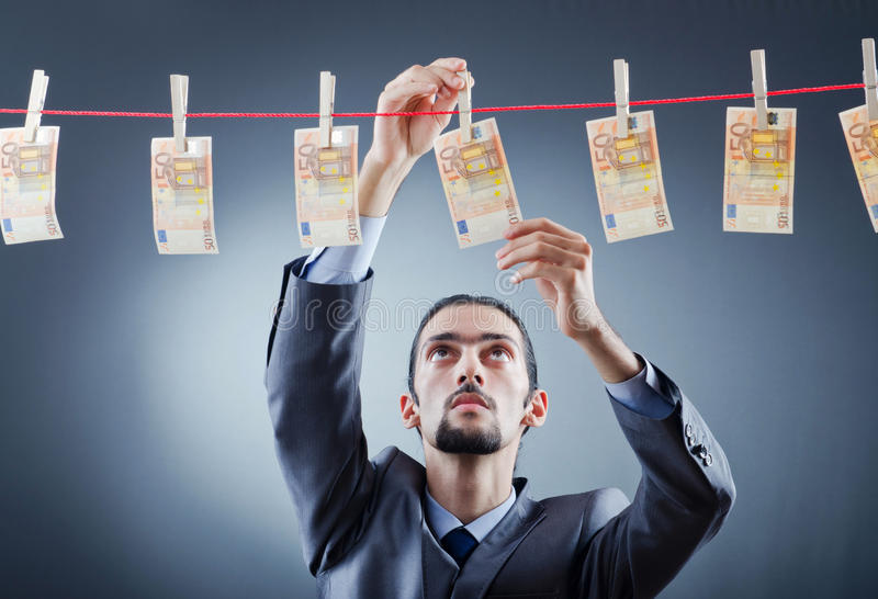 уголовные пакостные laundering деньги стоковые фотографии rf