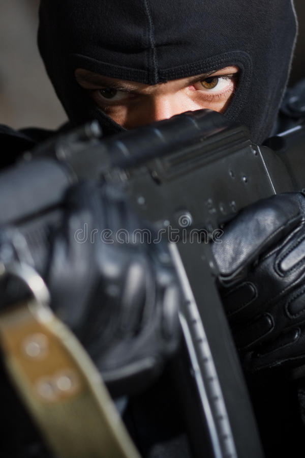 уголовный портрет пушки стоковые фото