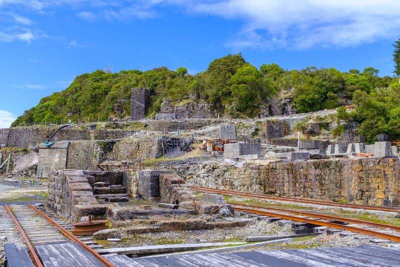 Угольная шахта Denniston остается стоковое изображение