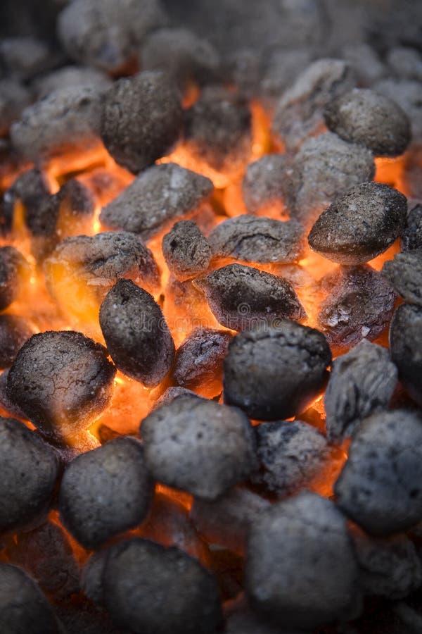 Уголь барбекю стоковая фотография