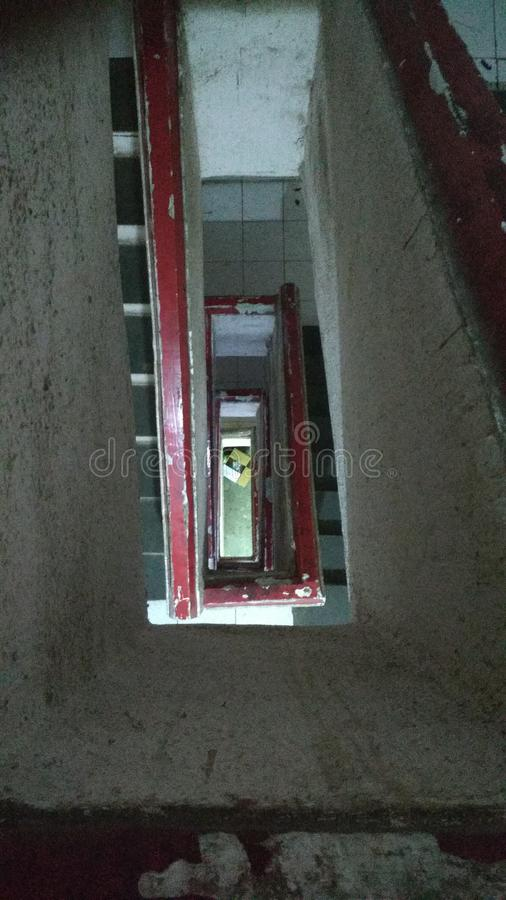 Угол лестницы верхний стоковые фотографии rf
